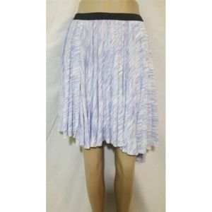 Olive + Oak Blue White Asymmetrical Skirt M